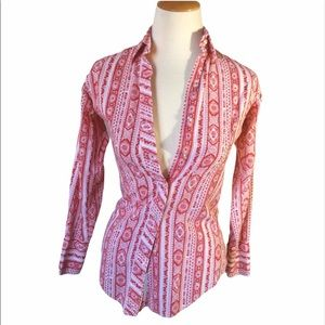 Vintage Cowgirl Paisley Red Button Up Rodeo!